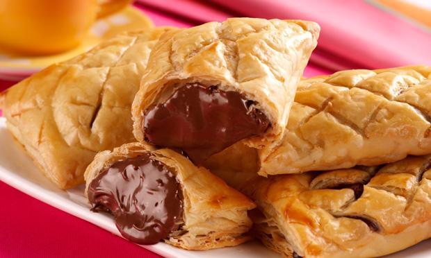 Pão folhado de chocolate