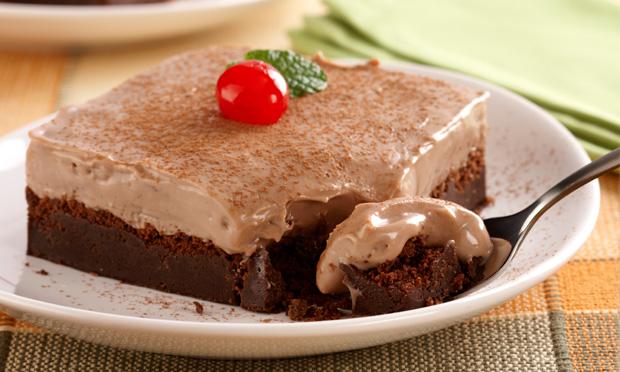 Torta cremosa de chocolate