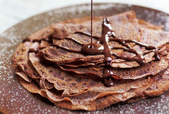 Crepe de chocolate