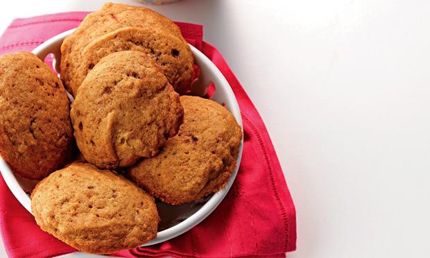 Biscoito de baunilha e açúcar maskavo