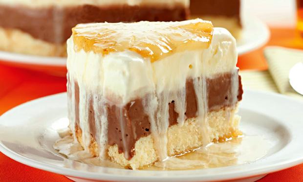Torta de abacaxi e chocolate