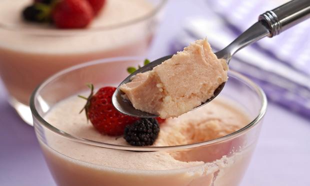 Sobremesa de leite condensado e coco