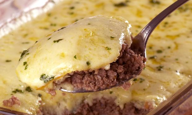 Torta de carne moída e batata