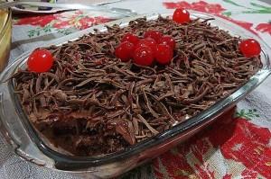 Pavê simples de bolo