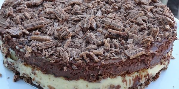 Torta de biscoito tipo Waffer