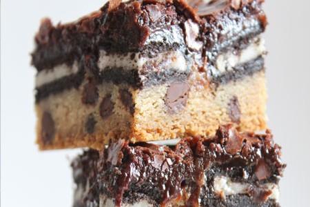Brownie com biscoito Negresco
