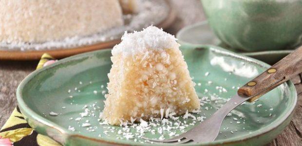 Pudim de tapioca e coco
