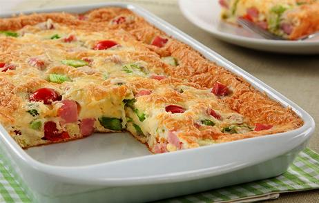 Omelete prática de forno