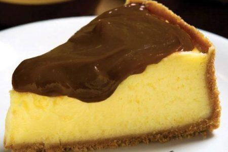 Torta fácil de maracujá e ganache
