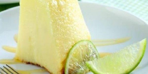 Pudim aerado de limão