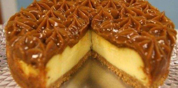 Cheesecake prático de doce de leite