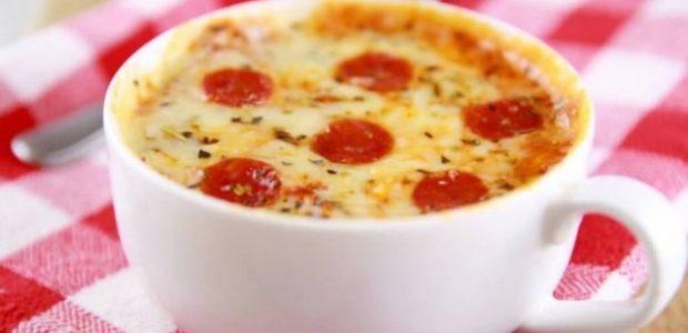 Pizza na caneca