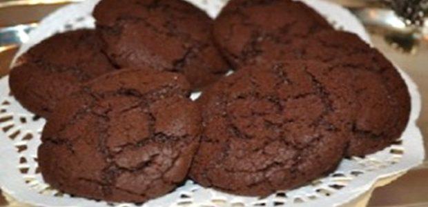 Biscoito de chocolate meio amargo