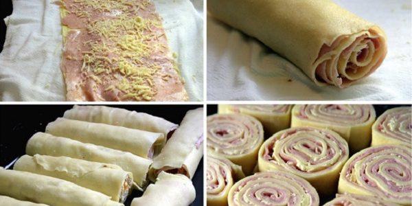 Rondelli com massa de pastel