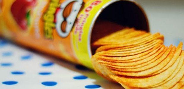Batata tipo Pringles caseira