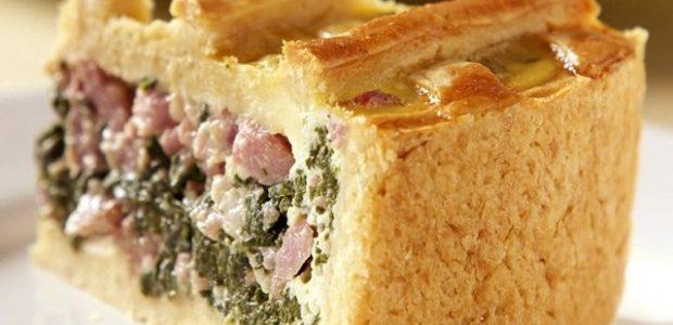 Torta de Espinafre com Linguiça