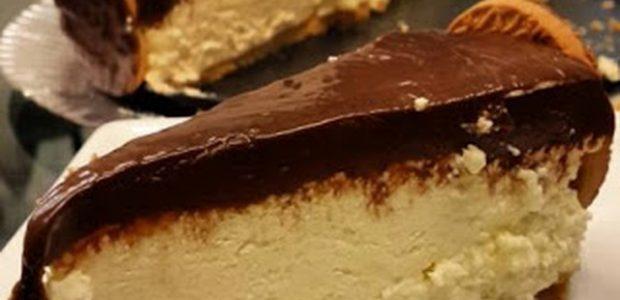 Torta Holandesa de Creme de Maracujá