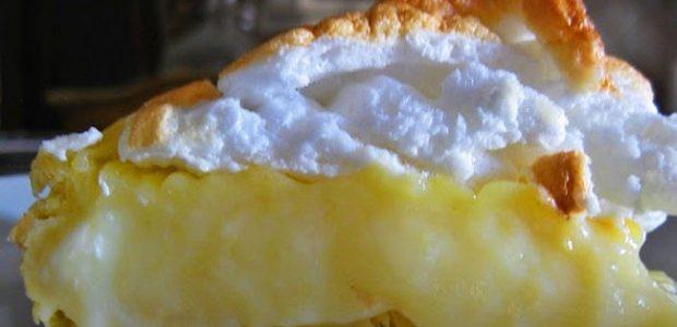 Torta de creme de leite com merengue