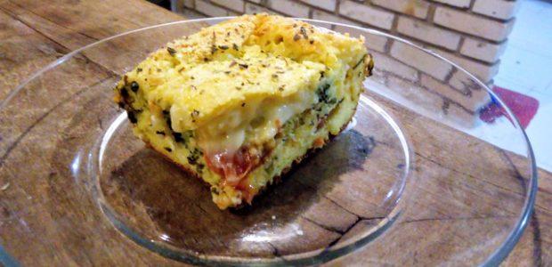 Torta vegetariana de liquidificador