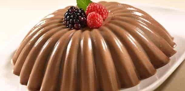 Flan cremoso de chocolate