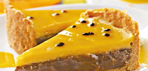 Torta de brigadeiro e maracujá