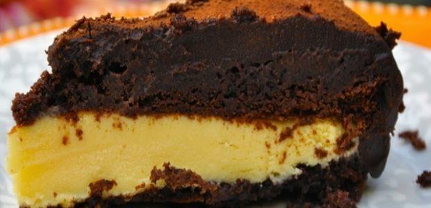 Bolo gelado de chocolate e maracujá