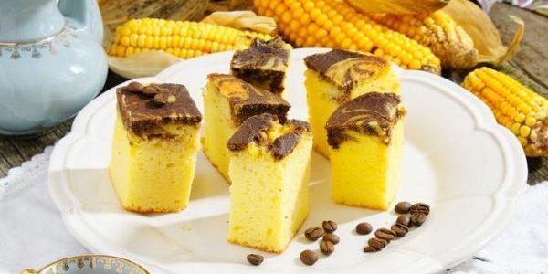 Bolo de farinha de milho e chocolate