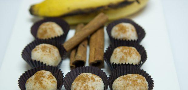 Brigadeiro de banana com canela