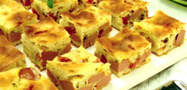 Torta prática de salsicha