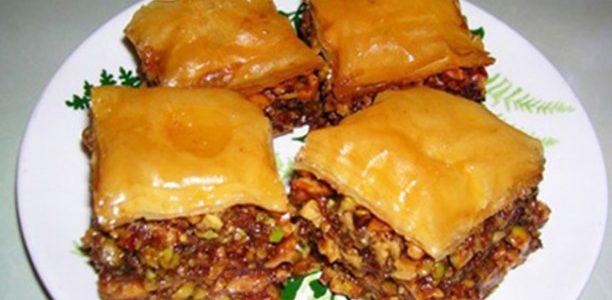 Baklava pastel árabe