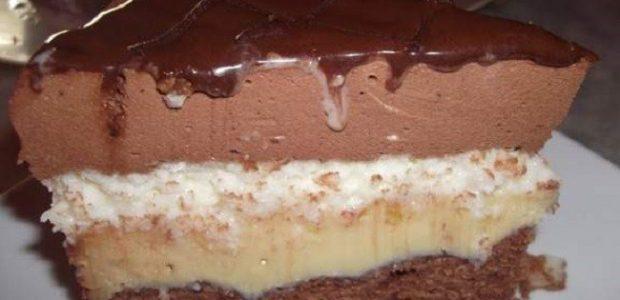 Bolo tentação de chocolate com coco