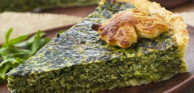 Torta de quinoa com escarola