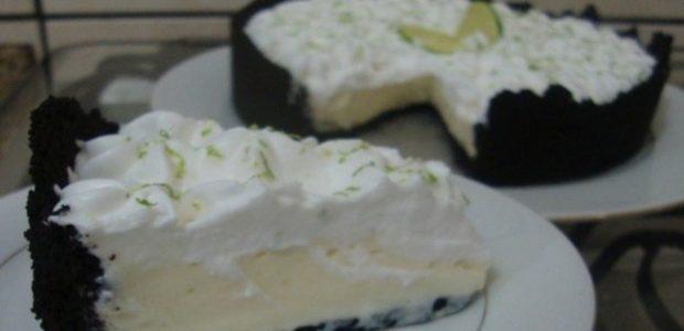 Torta de limão com bolacha Negresco