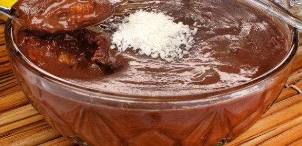 Doce de banana com chocolate