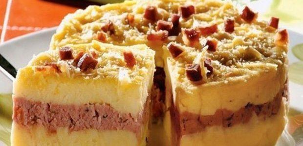 Torta de batata recheada