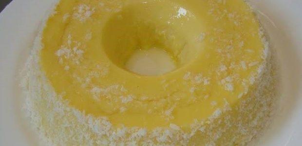Pudim de gemas e coco no liquidificador
